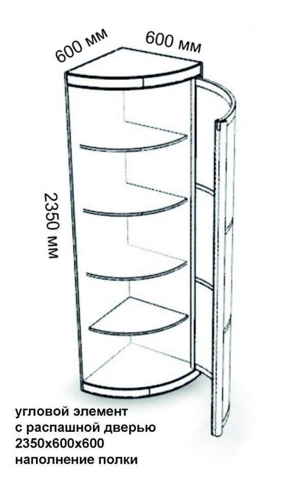 Радиусный шкаф №28 3