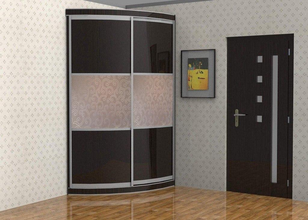 Радиусный шкаф ассиметричный 1