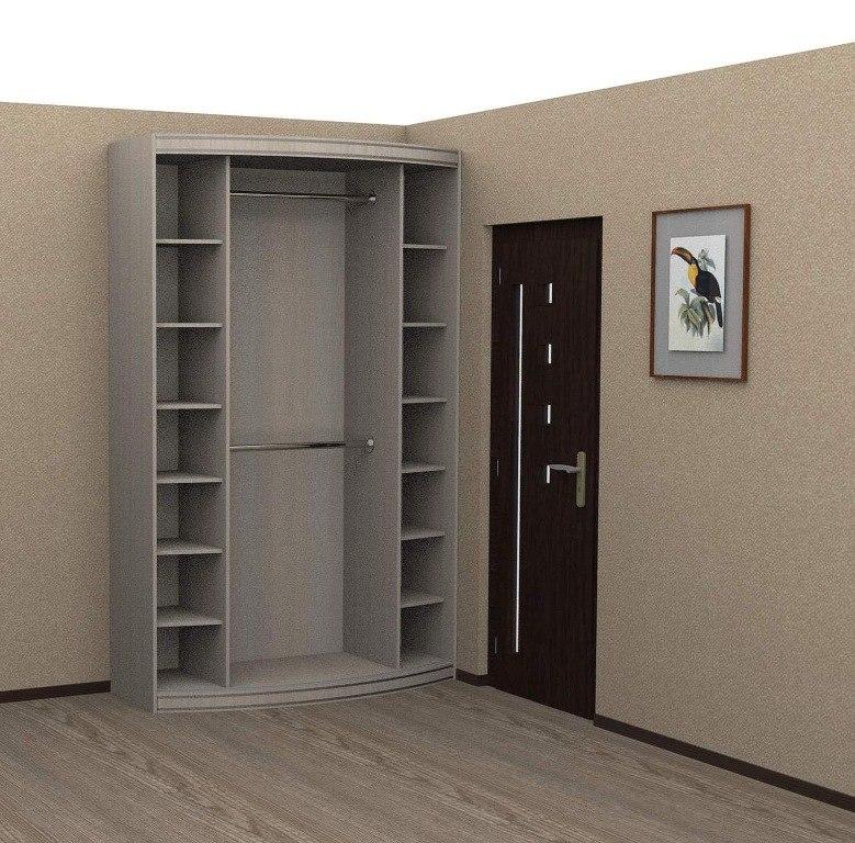 Радиусный шкаф-купе № 12 2