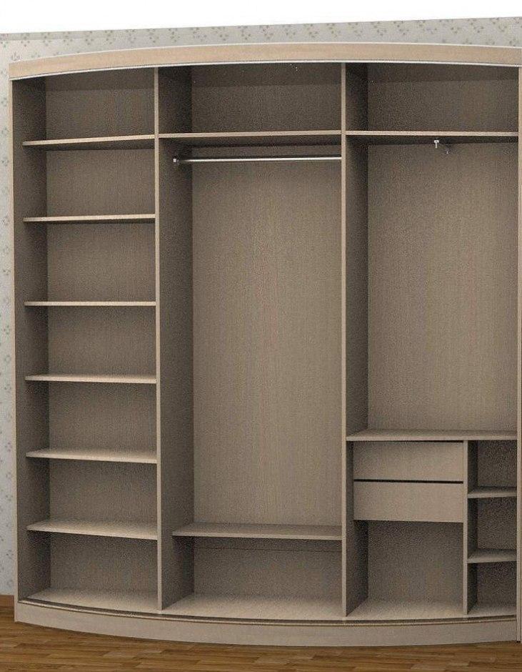 Радиусный шкаф в прихожую 2
