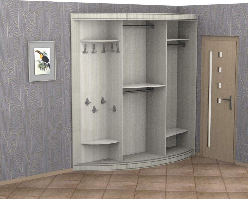 Радиусный шкаф-купе Рио 3