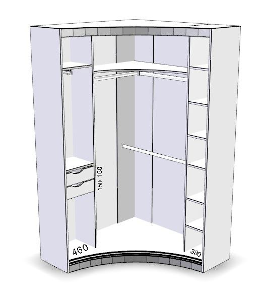 Радиусный шкаф №26 2