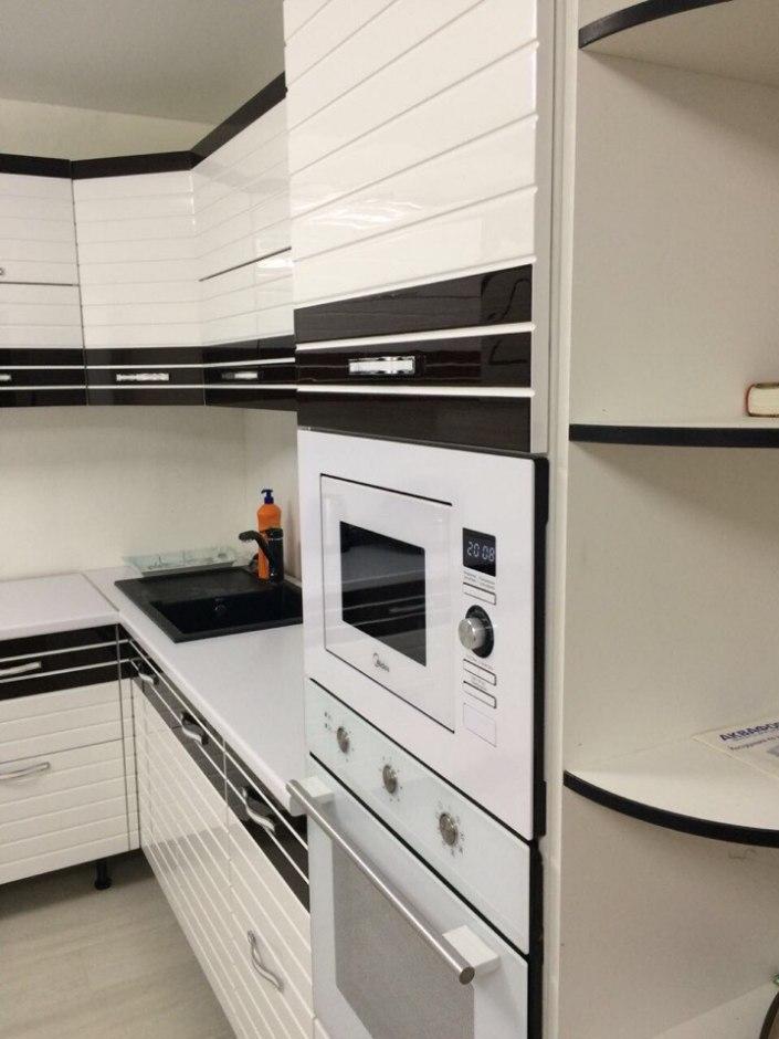Кухня Венза эмаль + шпон 5