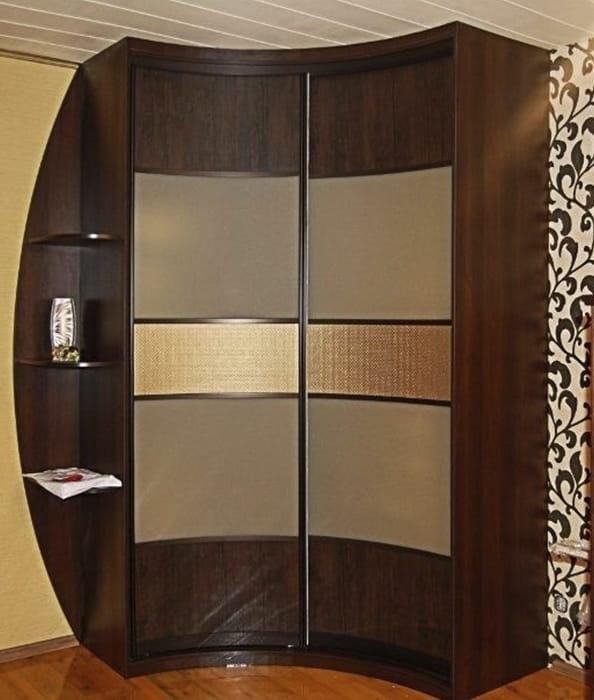 Радиусный шкаф в комнату 1