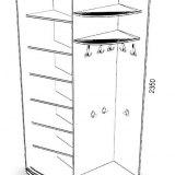 Радиусный шкаф №27 4