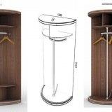 Радиусный шкаф-купе Меридиан 4