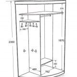 Радиусный шкаф ассиметричный 2